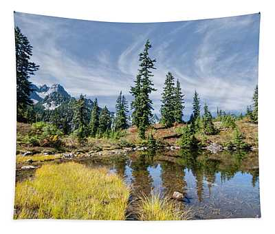 Alpine Pond In The Fall Tapestry