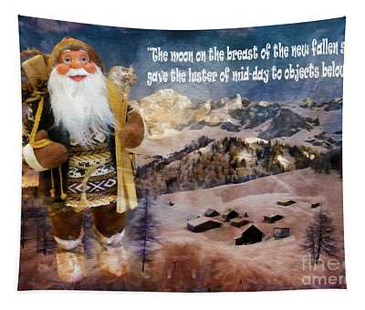 Alpine Santa Card 2015 Tapestry
