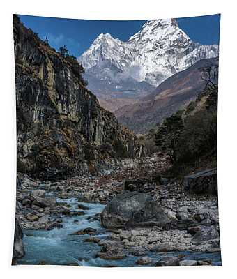 Ama Dablam In Nepal Tapestry