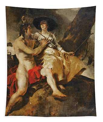 Amaryllis Crowning Mirtillo Tapestry
