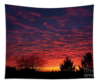 Amazing Red Sunset Sky Tapestry