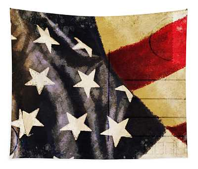 America Flag Pattern Postcard Tapestry