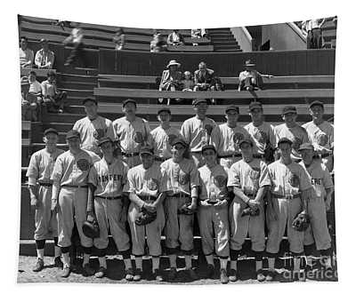 American Legion Baseball Team At Jacks Park Monterey 1949 Tapestry