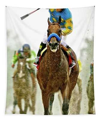 American Pharoah And Victor Espinoza Win The 2015 Preakness Stakes. Tapestry