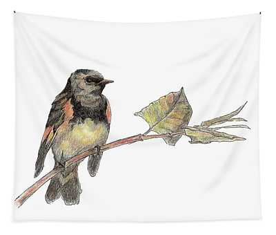American Redstart Tapestry