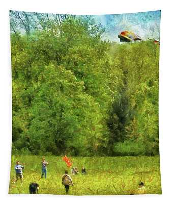 Americana - People - Let's Go Fly A Kite Tapestry