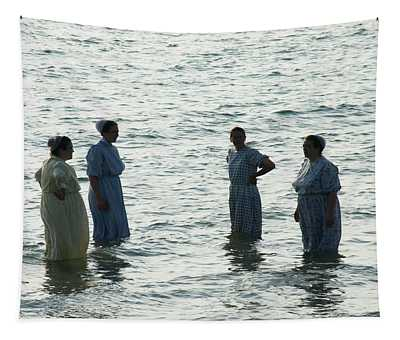 Amish Bathers - Version Two Tapestry