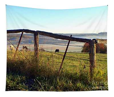 Amish Country Fence Cattle Farm Tapestry