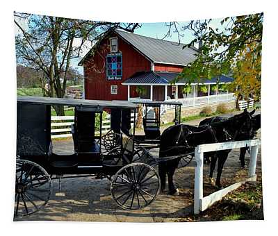 Amish Country Horse And Buggy Tapestry