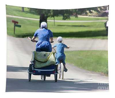 Amish Mother And Daughter Tapestry