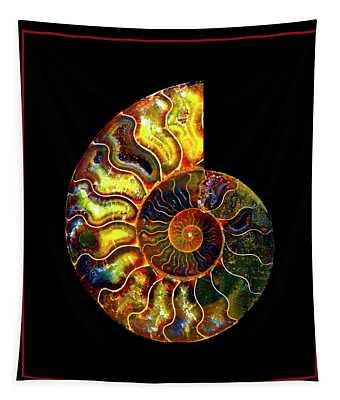 Ammonite Fossil - 8322-3 Tapestry
