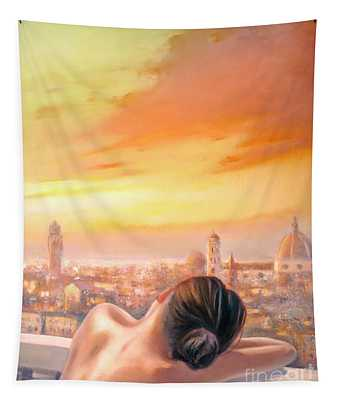 Amore Di Firenze Love Of Florence Tapestry