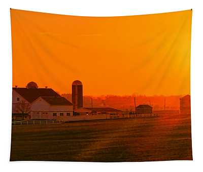 An Amish Sunset Tapestry