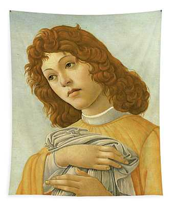 An Angel Head And Shoulders Tapestry