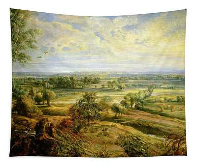 An Autumn Landscape With A View Of Het Steen In The Early Morning Tapestry