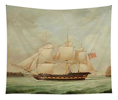 An East Indiaman Off Southampton Tapestry