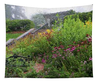 An English Garden In The Mountains Of North Carolina Tapestry