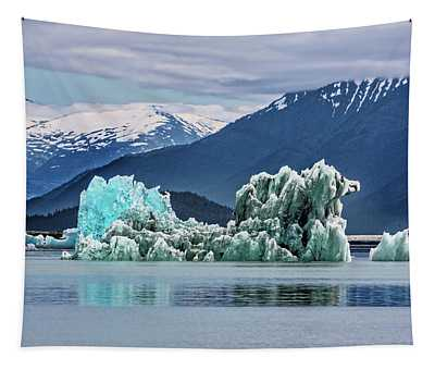 An Iceberg In The Inside Passage Of Alaska Tapestry