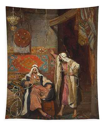 An Idle Conversation, 1872 Tapestry