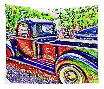 An Old Pickup Truck 3 Tapestry
