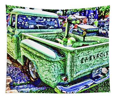 An Old Pickup Truck 4 Tapestry