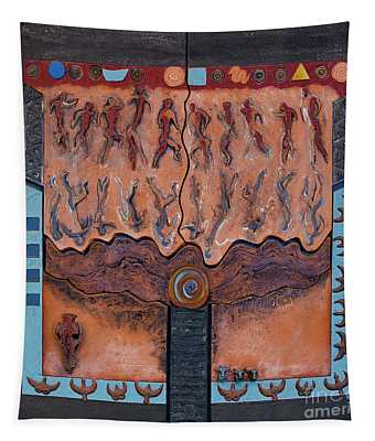 Ancestral Chart- Ancient Early - Hunters Gatherers - Chasseurs Cueilleurs - Cazadores Recolectores  Tapestry