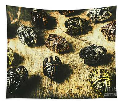 Ancient Battlefield Armour Tapestry