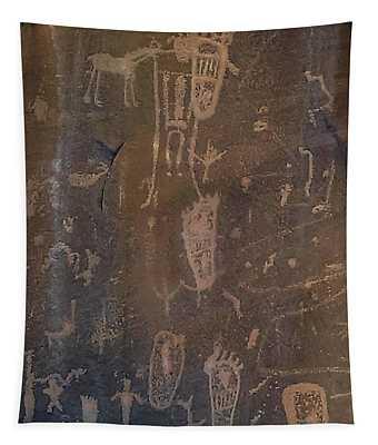 Ancient Puebloan Petroglyph Panel Tapestry