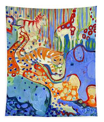 And Elephant Enters The Room Tapestry