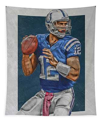 Andrew Luck Indianapolis Colts Art Tapestry