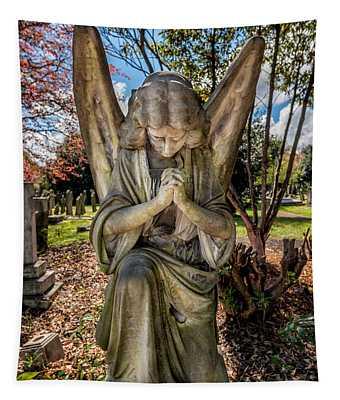 Angel In Prayer Tapestry
