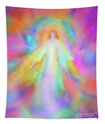 Angel Of Forgiveness And Compassion Tapestry