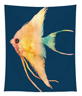 Angelfish II - Solid Background Tapestry