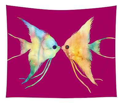 Angelfish Kissing Tapestry