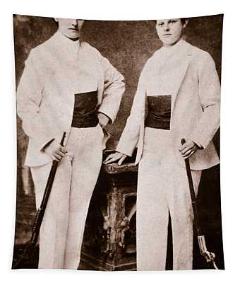 Annie Oakley And Her Sister Tapestry