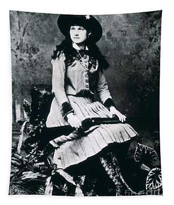 Annie Oakley  Star Of Buffalo Bill's Wild West Show Tapestry