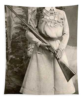 Annie Oakley With A Rifle Tapestry