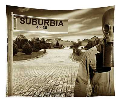 Another Day In Suburbia Tapestry