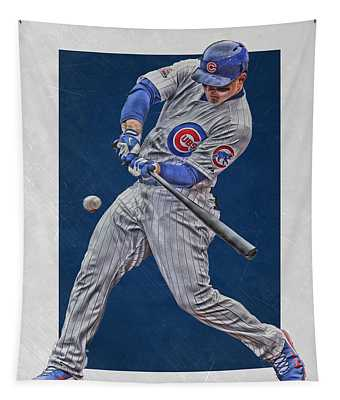 Anthony Rizzo Chicago Cubs Art 1 Tapestry