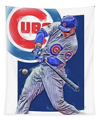Anthony Rizzo Chicago Cubs Oil Art Tapestry
