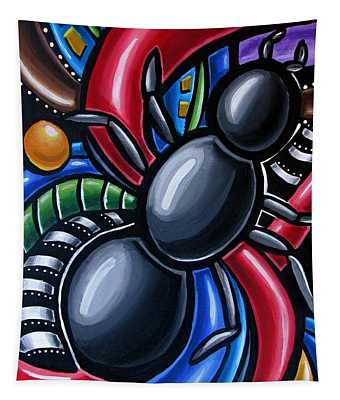 Ant Art Painting Colorful Abstract Artwork - Chromatic Acrylic Painting Tapestry