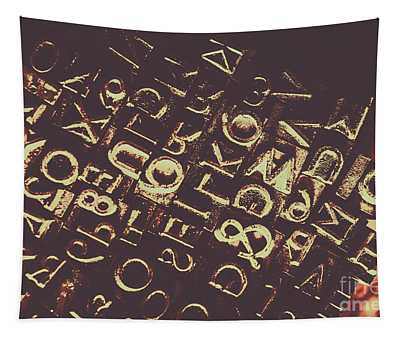 Antique Enigma Code Tapestry