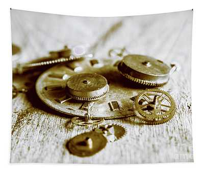Antique Factory Settings Tapestry