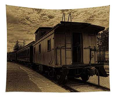 Antique Iron Range Caboose Tapestry