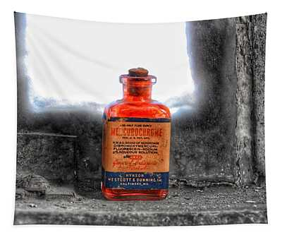 Antique Mercurochrome Hynson Westcott And Dunning Inc. Medicine Bottle - Maryland Glass Corporation Tapestry