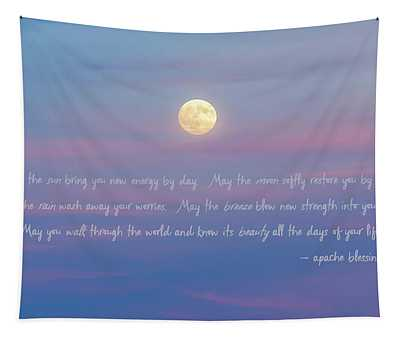 Apache Blessing Harvest Moon 2016 Tapestry