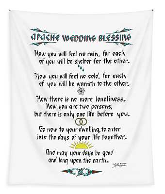 Apache Wedding Blessing Tapestry