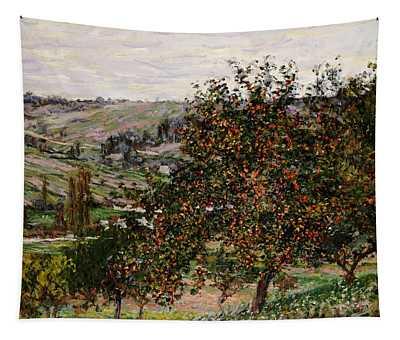 Apple Trees Near Vetheuil Tapestry