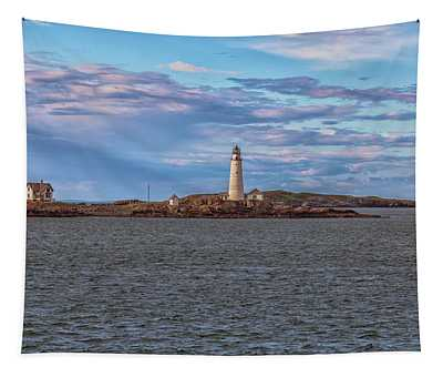 Approaching Boston Lighthouse Tapestry