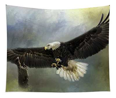 Approaching His Perch Tapestry